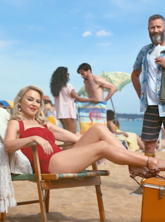 "Kylie stars in Tourism Australia's ""Matesong"" ad campaign. Photo: Instagram/kylieminogue."