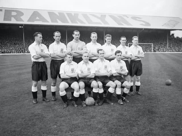 Jimmy Mullen (front, right) made 12 appearances for England (PA Archive)