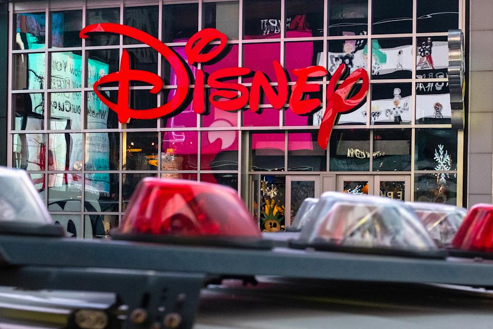 The logo of the Times Square Disney store is seen in Times Square, New York City, U.S. December 5, 2019.  REUTERS/Nick Pfosi