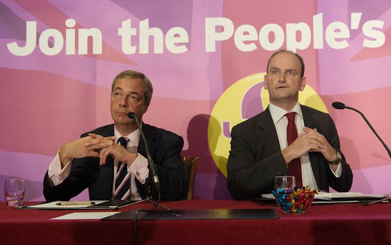 Ukip leader Nigel Farage with Douglas Carswell - Credit: PA