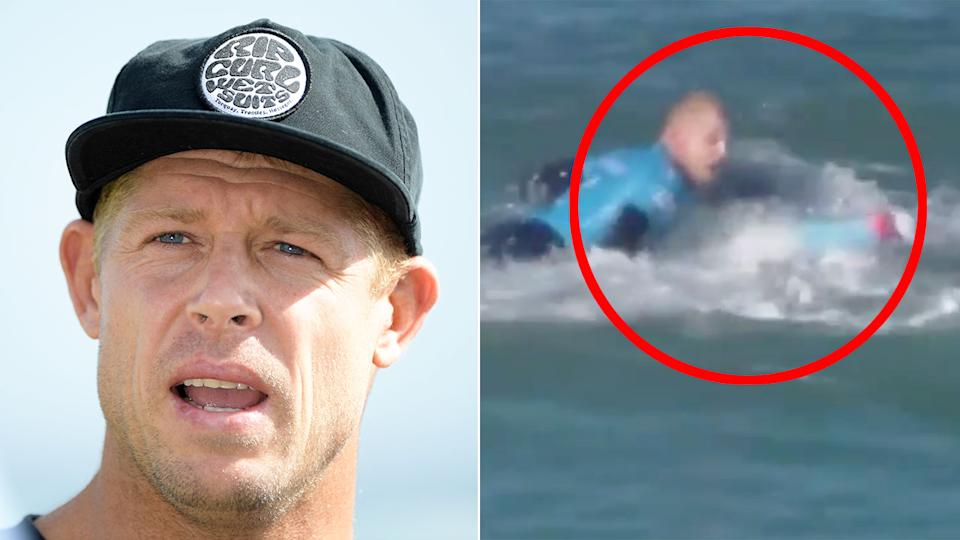 Mick Fanning famously survived a great white shark attack in South Africa in 2015. Pic: Getty/WSL
