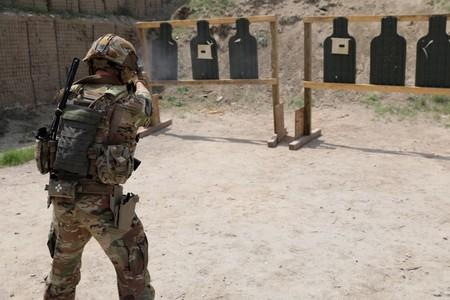 Advisors from the 2nd Security Force Assistance Brigade conduct marksmanship training during their deployment to Afghanistan