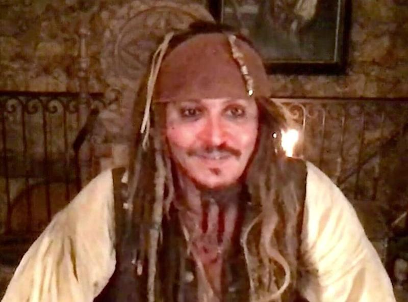 Johnny Depp, Captain Jack Sparrow, Virtual Visit