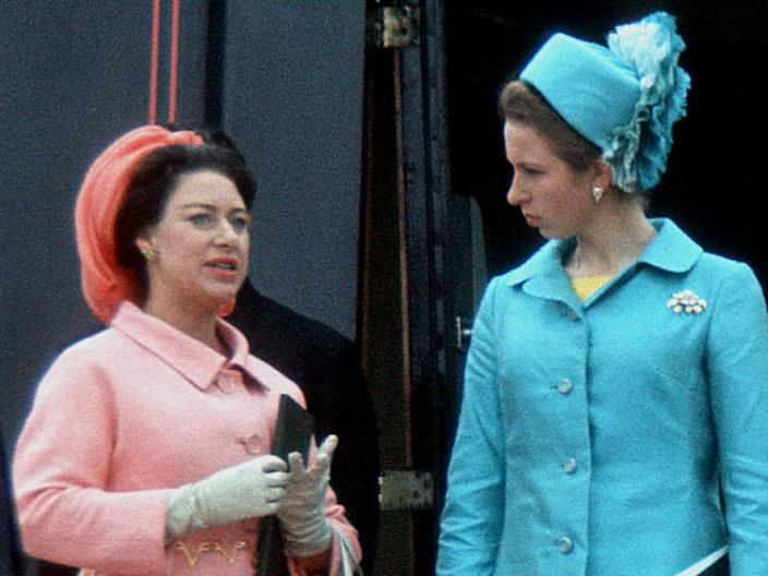 Princess Margaret and Princess Anne in 1969.