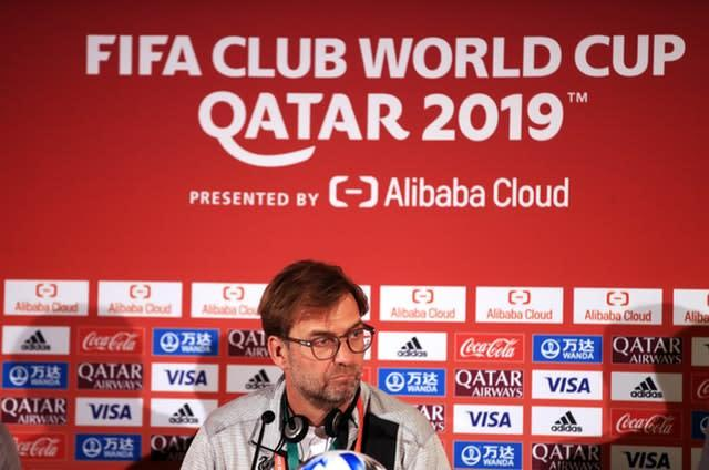 Liverpool manager Jurgen Klopp was speaking to the media ahead of his side's Club World Cup semi-final against Monterrey (Adam Davy/PA)