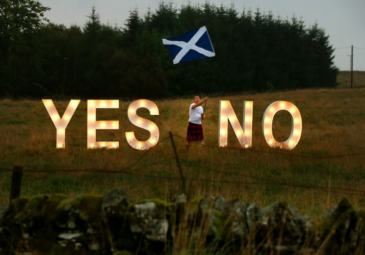 A poll suggested most Scottish voters are against holding a new referendum (PA)