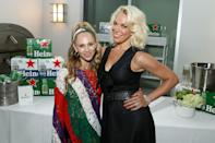 <p>Juno Temple and Hannah Waddingham attend <em>The Hollywood Reporter</em> and Apple TV+'s <em>Ted Lasso</em> season 2 preview, sponsored by Heineken, at Ross House on July 17 in L.A.</p>
