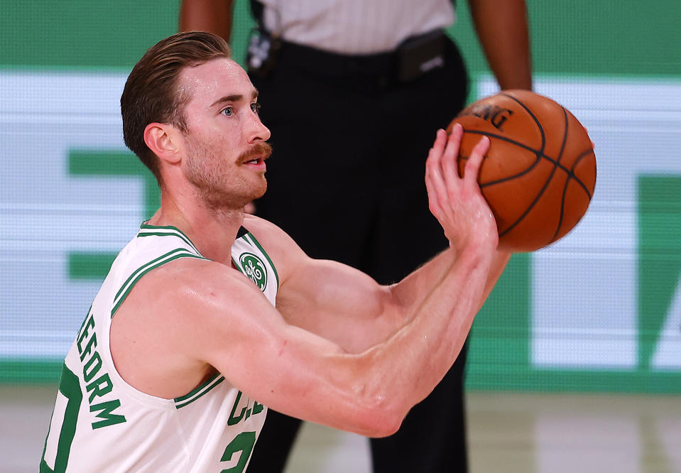 Gordon Hayward left a contender in Boston for the security of $120 million in Charlotte. (Mike Ehrmann/Getty Images)