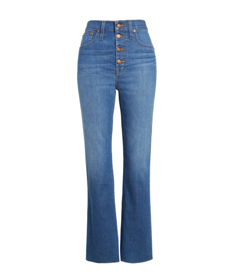 Madewell Cali High Waist Demi Boot Jeans. Image via Nordstrom.