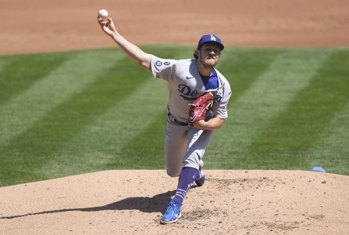 Trevor Bauer of the Los Angeles Dodgers