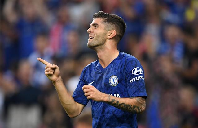 Christian Pulisic has scored his first two goals in a Chelsea shirt. (Getty)