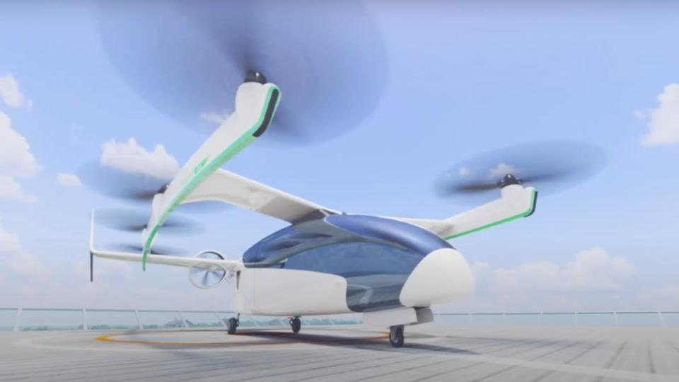 A prototype will be operational by 2023, but Honda doesn't expect to certify the VTOL until 2030. - Credit: Courtesy Honda