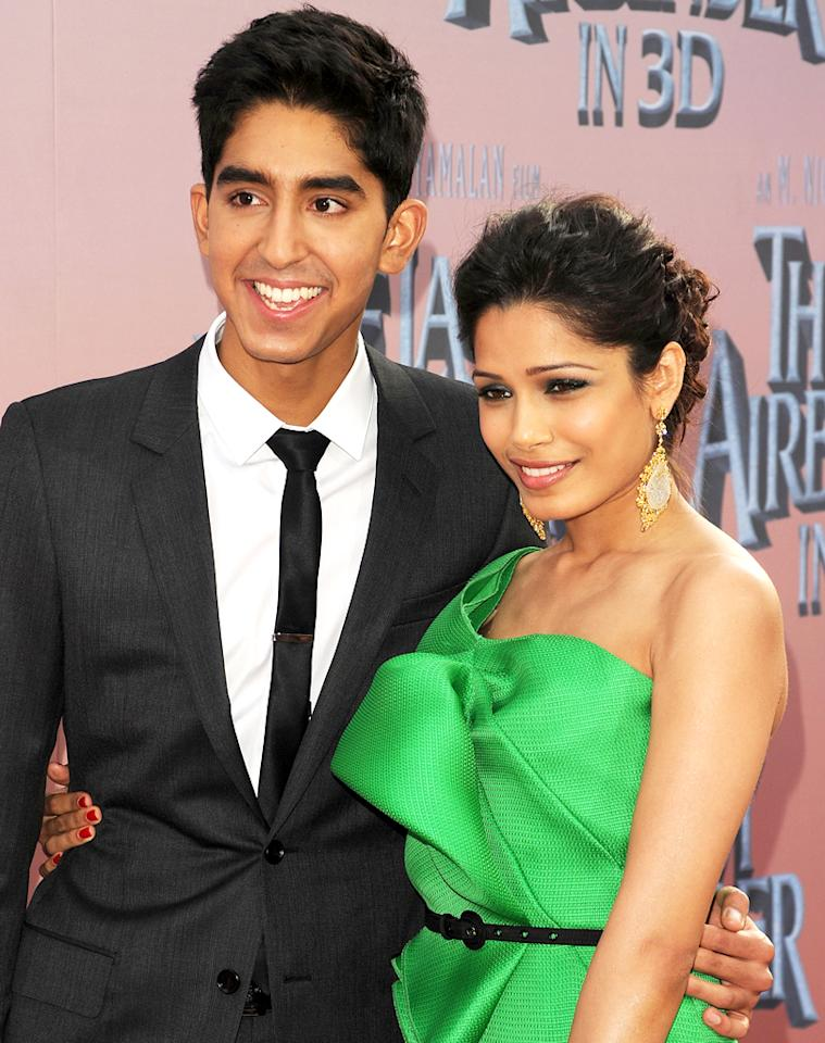 """Slumdog Millionaire"" couple Freida Pinto and Dev Patel are also romantic in real life. Andrew H. Walker/<a href=""http://wireimage.com"" target=""_blank"">Getty Images North America</a> - June 30, 2010"