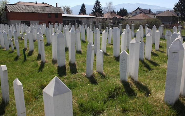 A cemetery holding the victims of the 1993 Ahmici massacre in Bosnia, an atrocity that pushed Graham Bamford to take his own life - Haris Badzic/Anadolu Agency