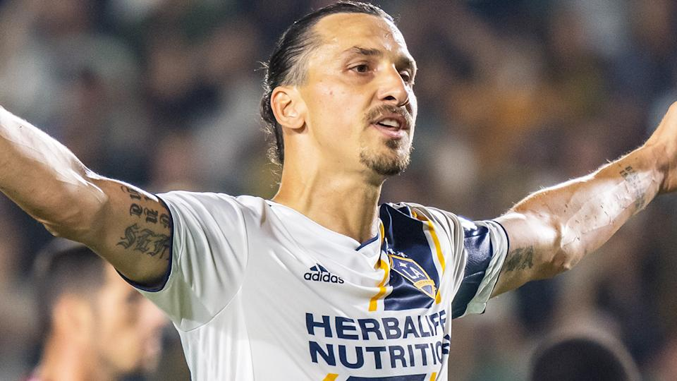 Zlatan Ibrahimovic's memorable run with the LA Galaxy will come to an end.  (Photo by Shaun Clark/Getty Images)