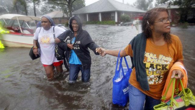 Tropical Storm Isaac Continues to Dump Rain on Louisiana