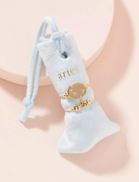 Zodiac Ring Set. Image via Anthropologie.