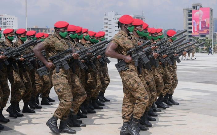 The Ethiopian National Defence conducting exercises in September 2020 - STR/EPA-EFE/Shutterstock
