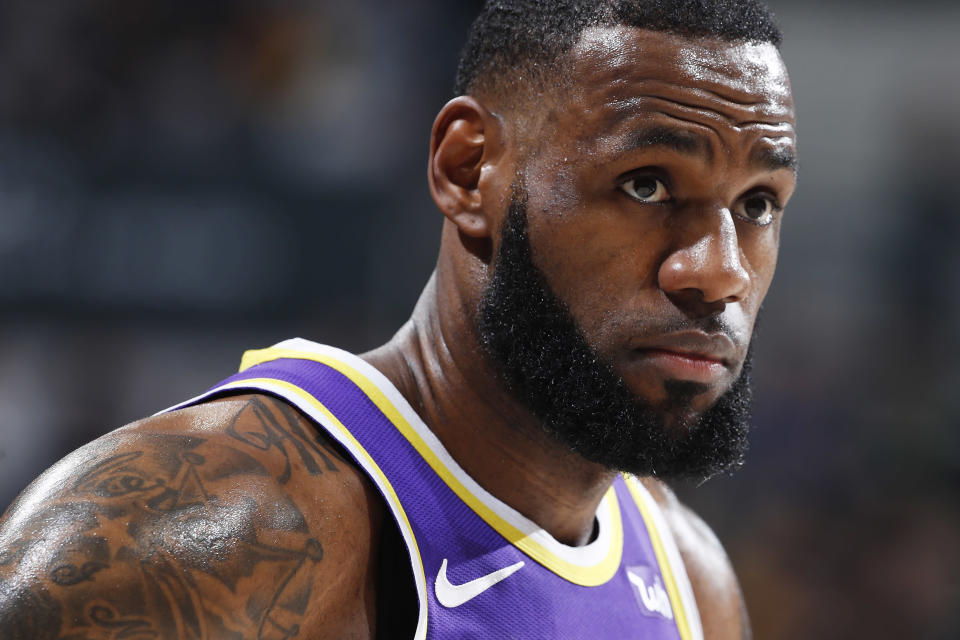 In a lost season with concerns about 34-year-old LeBron James recovering from a groin injury, how hard should the Lakers push their superstar? (Getty)