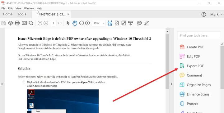 how to make a pdf document into word