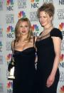 With Madonna at the 1997 Golden Globes