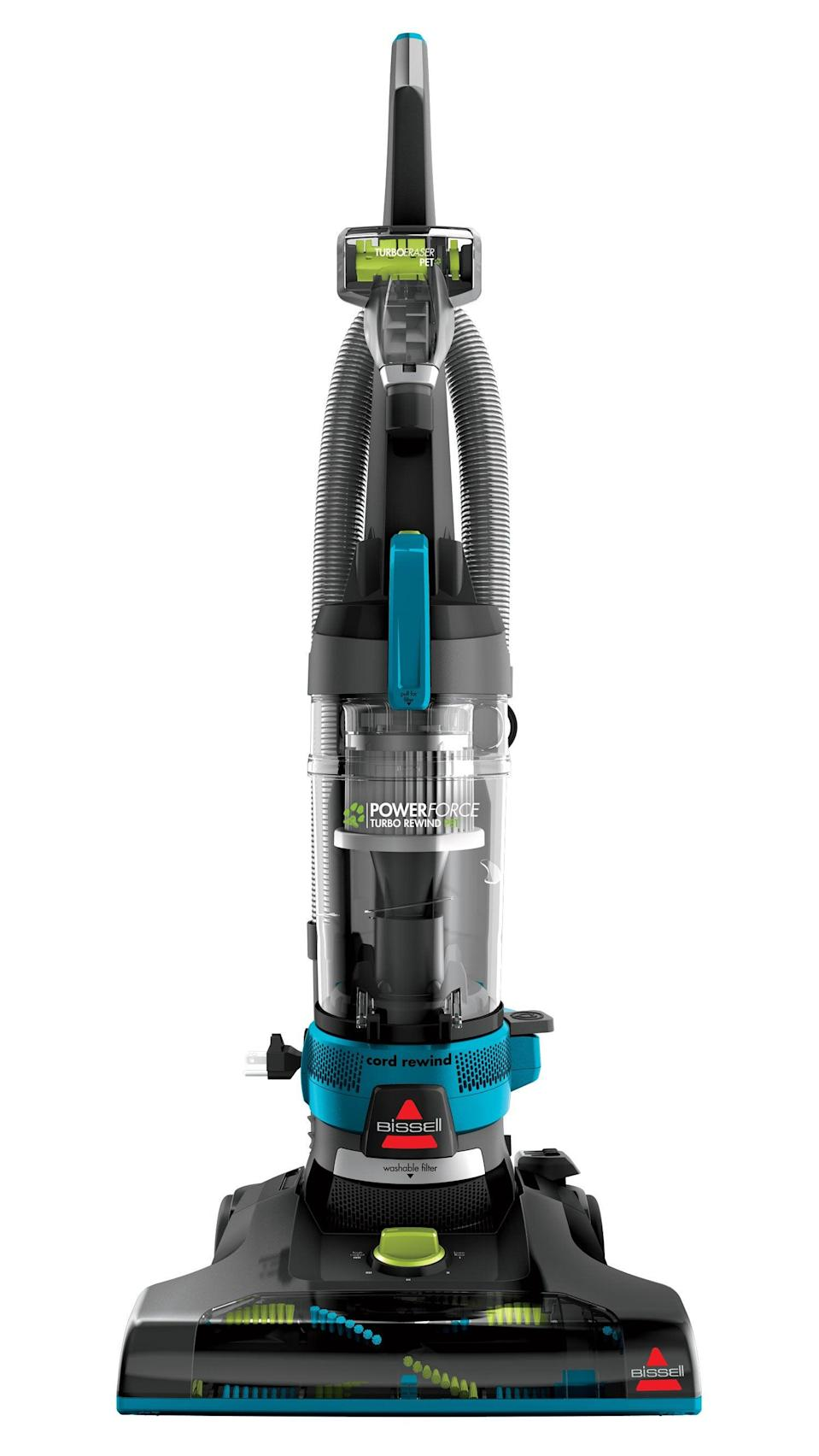 "<h2><a href=""https://fave.co/2KbtmfE"" rel=""nofollow noopener"" target=""_blank"" data-ylk=""slk:BISSELL PowerForce Helix Turbo Rewind Vacuum"" class=""link rapid-noclick-resp"">BISSELL PowerForce Helix Turbo Rewind Vacuum</a></h2><br><strong>The Hype:</strong> 4.6 out of 5 stars and 341 reviews on <a href=""https://fave.co/2KbtmfE"" rel=""nofollow noopener"" target=""_blank"" data-ylk=""slk:Walmart"" class=""link rapid-noclick-resp"">Walmart</a><br><br><strong>Clean Fiends Say:</strong> ""This is a good priced vacuum with high-end engineering and design. The vacuum works very well yet is lightweight (cost savings?) and thus, is really easy to move around."" – <em>Cuteverythingcom, Walmart reviewer</em><br><br><em>Shop <strong><a href=""https://fave.co/3462p45"" rel=""nofollow noopener"" target=""_blank"" data-ylk=""slk:Walmart"" class=""link rapid-noclick-resp"">Walmart</a></strong> </em><br><br><strong>Bissell</strong> BISSELL PowerForce Helix Turbo Rewind Vacuum, $, available at <a href=""https://go.skimresources.com/?id=30283X879131&url=https%3A%2F%2Ffave.co%2F2KbtmfE"" rel=""nofollow noopener"" target=""_blank"" data-ylk=""slk:Walmart"" class=""link rapid-noclick-resp"">Walmart</a>"