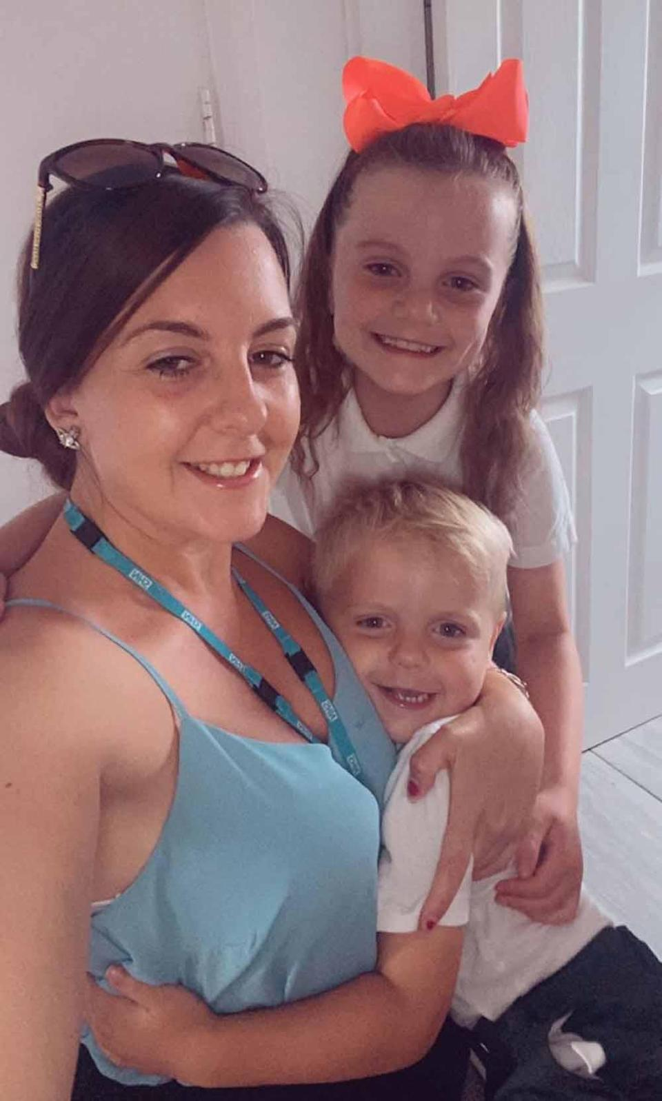 Paige with her children Evie-Rae and Duggan. PA REAL LIFE COLLECT