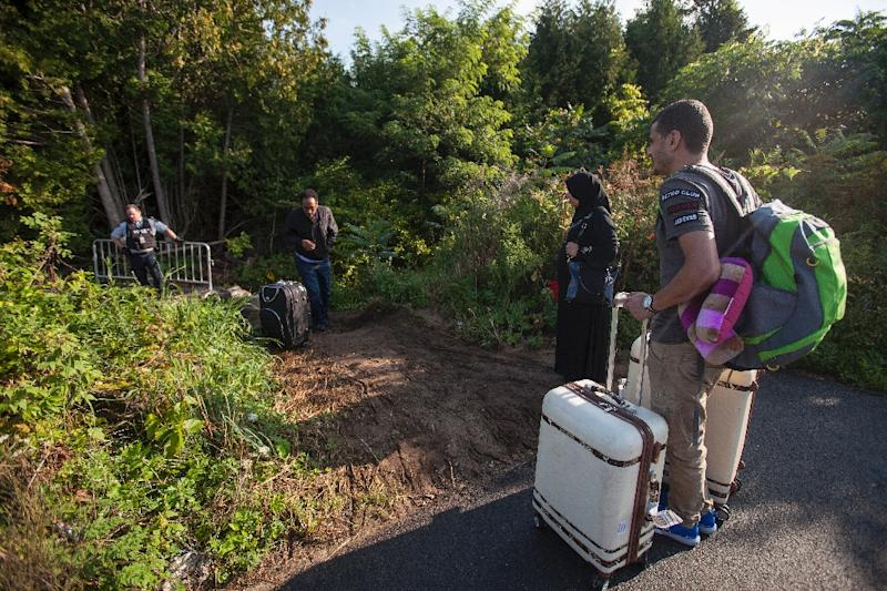Many of the more than 7,000 migrants who crossed on foot from the US state of New York into Canada's Quebec province since July 1 have been housed in tent cities near the border set up by the military