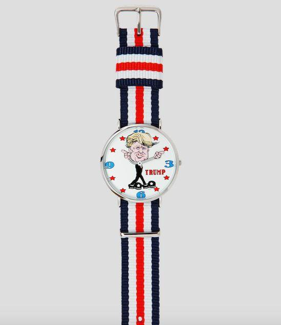 "This <a href=""https://revolutionwatch.com/products/donald-trump-watch"" target=""_blank"">Trump-themed watch</a> is like Trump in some ways and unlike him in others. Yes, it gets wound up a lot, but, unlike Trump, it's right more than two times a day. ($34.95, RevolutionWatch.com)"