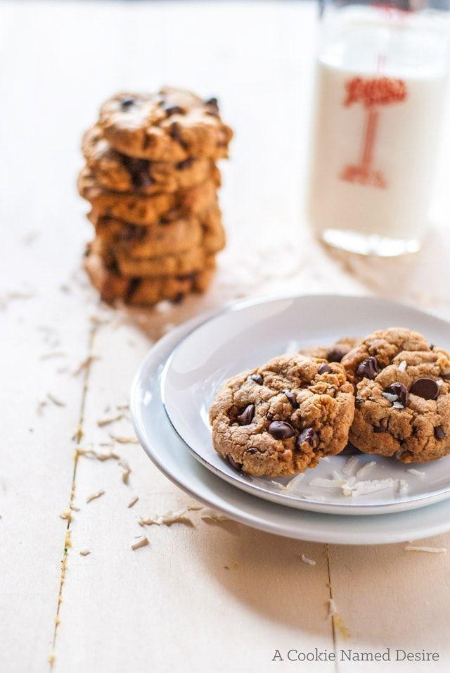 """<p>These chewy cookies are packed with healthy coconut in all its forms—coconut sugar, coconut oil, coconut extract, and, of course, coconut flakes.</p><p><strong>Get the recipe at <a href=""""https://cookienameddesire.com/healthy-coconut-chocolate-chip-cookies/"""" rel=""""nofollow noopener"""" target=""""_blank"""" data-ylk=""""slk:A Cookie Named Desire"""" class=""""link rapid-noclick-resp"""">A Cookie Named Desire</a>.</strong></p><p><a class=""""link rapid-noclick-resp"""" href=""""https://go.redirectingat.com?id=74968X1596630&url=https%3A%2F%2Fwww.walmart.com%2Fsearch%2F%3Fquery%3Dpioneer%2Bwoman%2Bbaking%2Btools&sref=https%3A%2F%2Fwww.thepioneerwoman.com%2Ffood-cooking%2Fmeals-menus%2Fg37115017%2Fhealthy-cookie-recipes%2F"""" rel=""""nofollow noopener"""" target=""""_blank"""" data-ylk=""""slk:SHOP BAKING TOOLS"""">SHOP BAKING TOOLS</a><br></p>"""