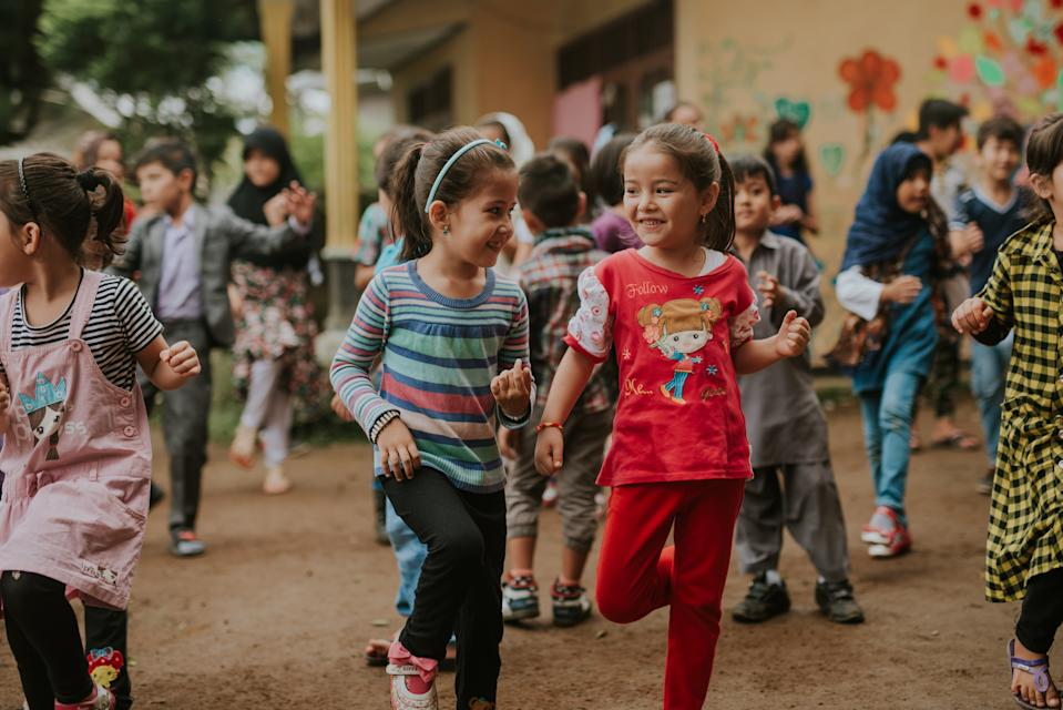 Refugee children at play at the Cisarua Refugee Learning Centre in Cisarua, Indonesia in 2016. PHOTO: Kenneth Lee