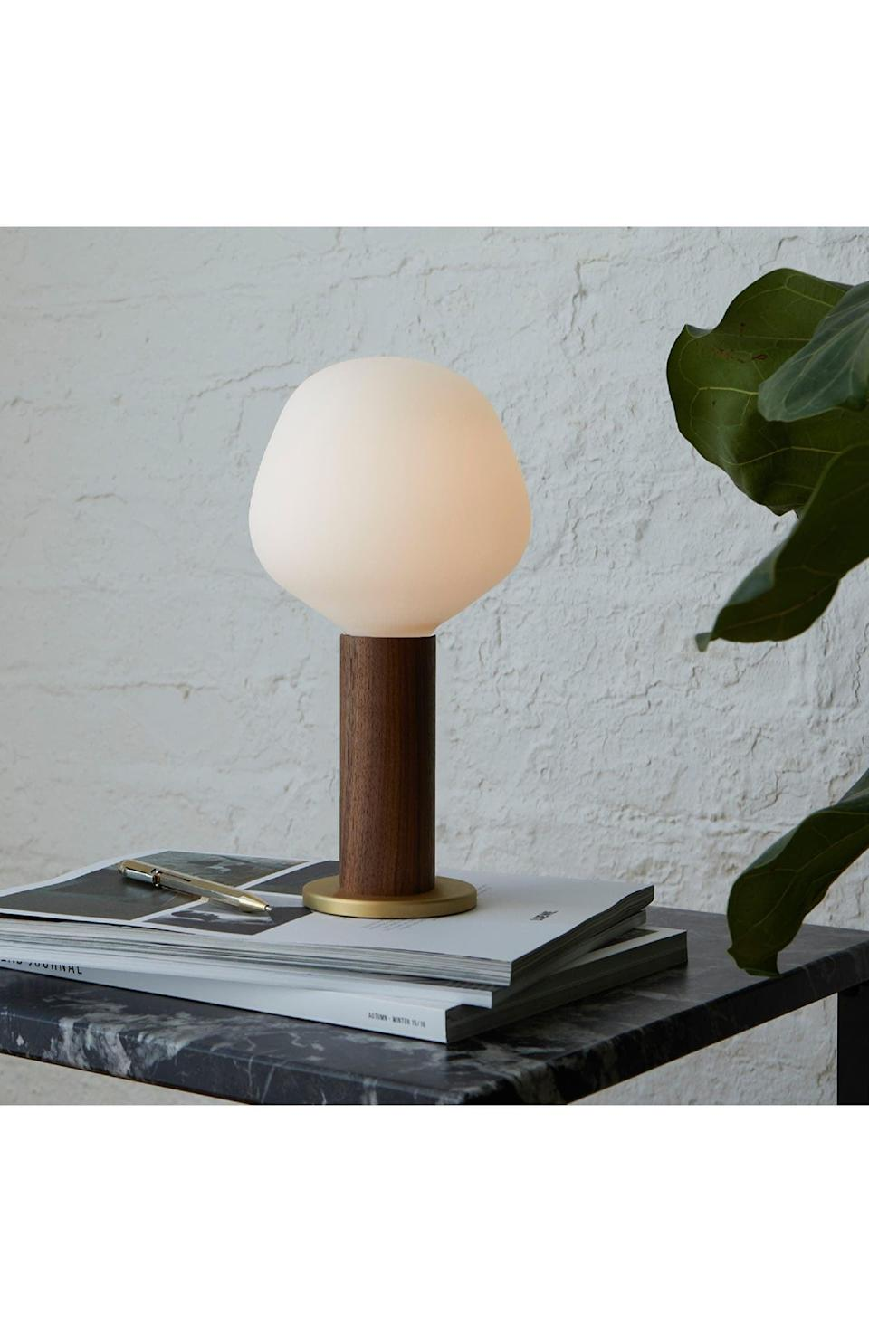 <p>This <span>Goodee x Tala Knuckle Table Lamp &amp; Enno Light Bulb</span> ($100) is so cool.</p>