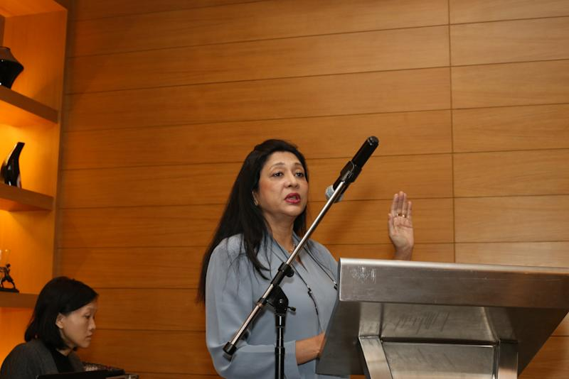 Dr Sharuna Verghis (pictured) and Dr Kana Kulasingam shared their findings from the study, which was funded and supported by the International Labour Organization. — Picture courtesy of Malaysian AIDS Foundation