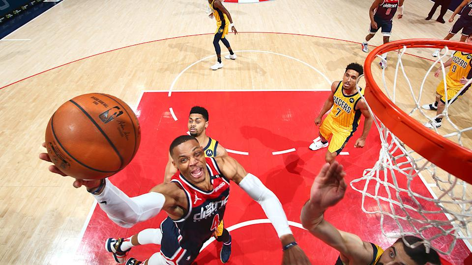 The Wizards toppled the Pacers on the back of Russell Westbrook's historic triple-double effort. (Photo by Stephen Gosling/NBAE via Getty Images)