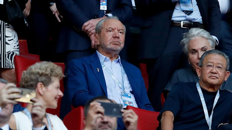 Lord Sugar in the stands during the UEFA Champions League Final at the Wanda Metropolitano, Madrid. (Photo by Martin Rickett/PA Images via Getty Images)