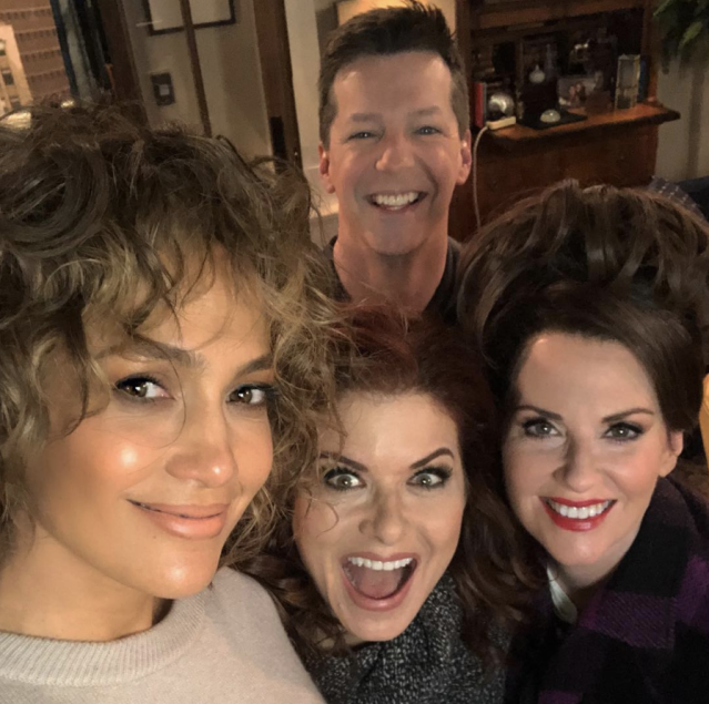 "<p>Where does she find the time? The superstar teased her upcoming appearance on <em>Will & Grace</em>, posing with stars Sean Hayes, Debra Messing, and Megan Mullally. Returning to the show 14 years after her first guest-starring role on it, Jen plays not one, but two characters on the reboot. (Photo: <a href=""https://www.instagram.com/p/BdzAUdtFCDP/?taken-by=jlo"" rel=""nofollow noopener"" target=""_blank"" data-ylk=""slk:Jennifer Lopez via Instagram"" class=""link rapid-noclick-resp"">Jennifer Lopez via Instagram</a>) </p>"