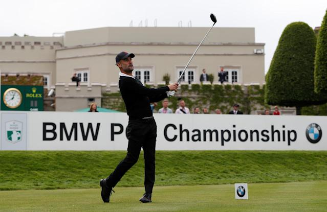 Golf - European Tour - BMW PGA Championship - Wentworth Club, Virginia Water, Britain - May 23, 2018 Manchester City manager Pep Guardiola during the Pro-AM Action Images via Reuters/Paul Childs