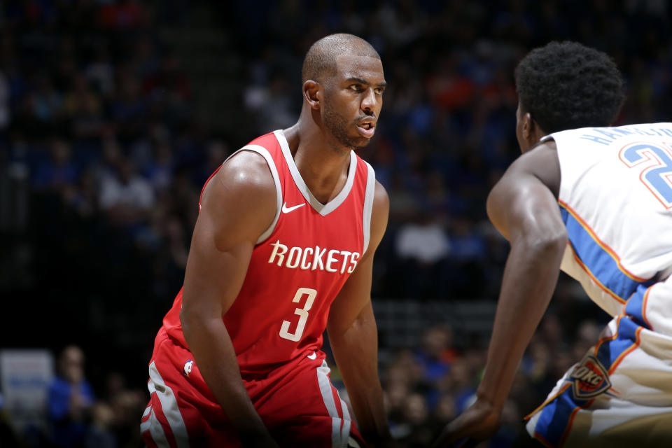 Chris Paul says he knows what he's getting into by joining the Rockets. (Getty)