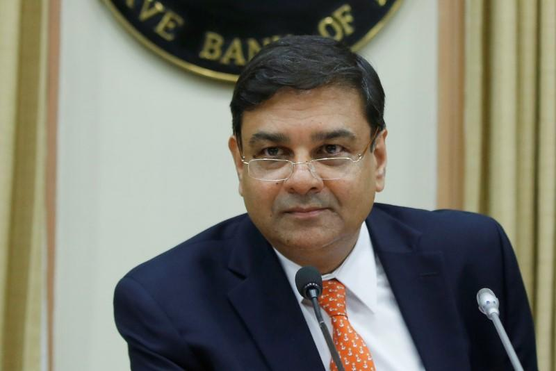 The RBI Governor Patel attends a news conference after the bi-monthly monetary policy review in Mumbai