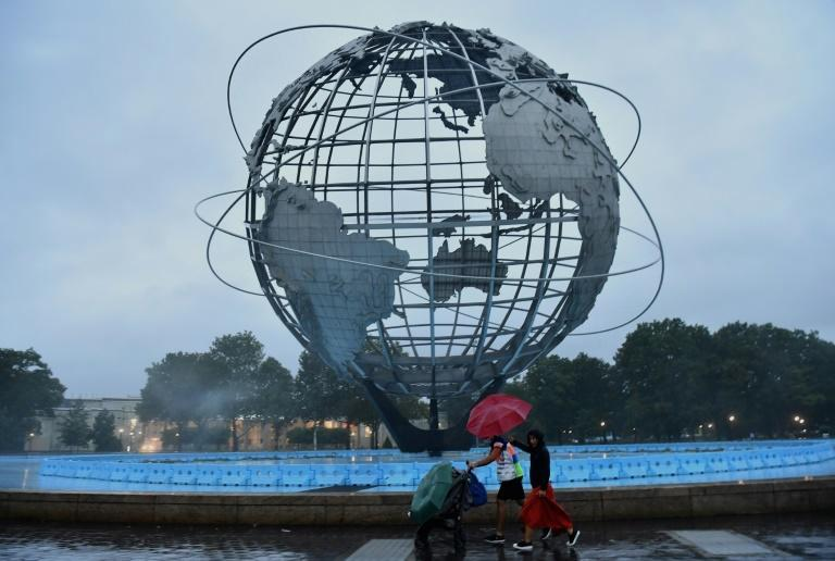 Ida is expected to continue steaming north and bring heavy rainfall on Thursday to New England, which was hit by a rare tropical storm in late August (AFP/Angela Weiss)