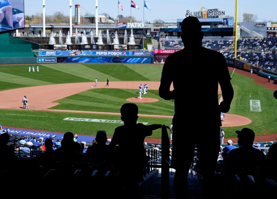 The MLB season began on April 1, with fans returning to the ballpark.
