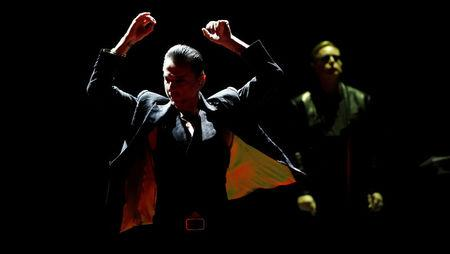 FILE PHOTO: Gahan of British band Depeche Mode performs at Staples Center in Los Angeles