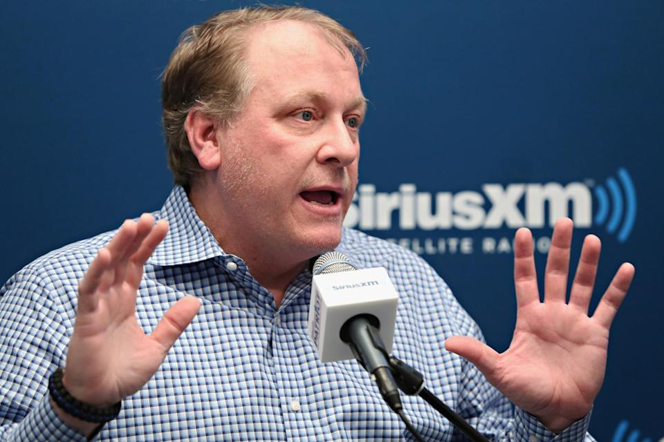 Curt Schilling's Hall of Fame case is taking a plunge in early returns. (Getty Images)