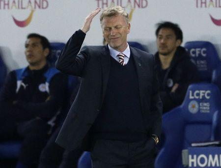Britain Football Soccer - Leicester City v Sunderland - Premier League - King Power Stadium - 4/4/17 Sunderland manager David Moyes looks dejected Reuters / Darren Staples Livepic