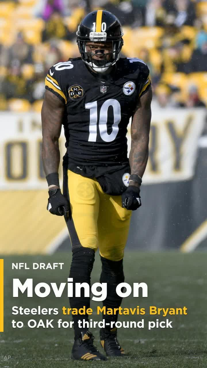 278f2b3fb02 Steelers deal WR Martavis Bryant to Raiders for third-round pick  Video