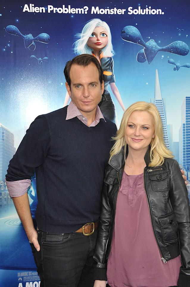 "<a href=""http://movies.yahoo.com/movie/contributor/1800352672"">Will Arnett</a> and <a href=""http://movies.yahoo.com/movie/contributor/1800352171"">Amy Poehler</a> at the Los Angeles premiere of <a href=""http://movies.yahoo.com/movie/1809918074/info"">Monsters vs. Aliens</a> - 03/22/2009"