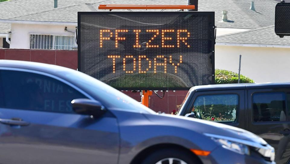 <p>FILE photo. Pfizer Chairperson and CEO, Albert Bourla, said that this largest humanitarian relief effort in our company's history. </p> (Photo by FREDERIC J. BROWN/AFP via Getty Images)