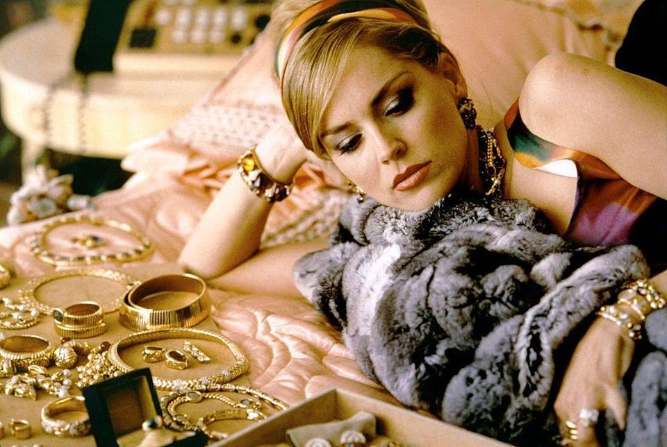 <p>In <em>Casino</em>, Sharon Stone's character was an '80s maximalist. Her approach to gold jewelry was more, more and more — which led to some incredible onscreen looks. </p>