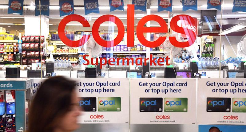 Coles, pictured is a stock image of a store front, has been pressured to do the same to its milk prices.