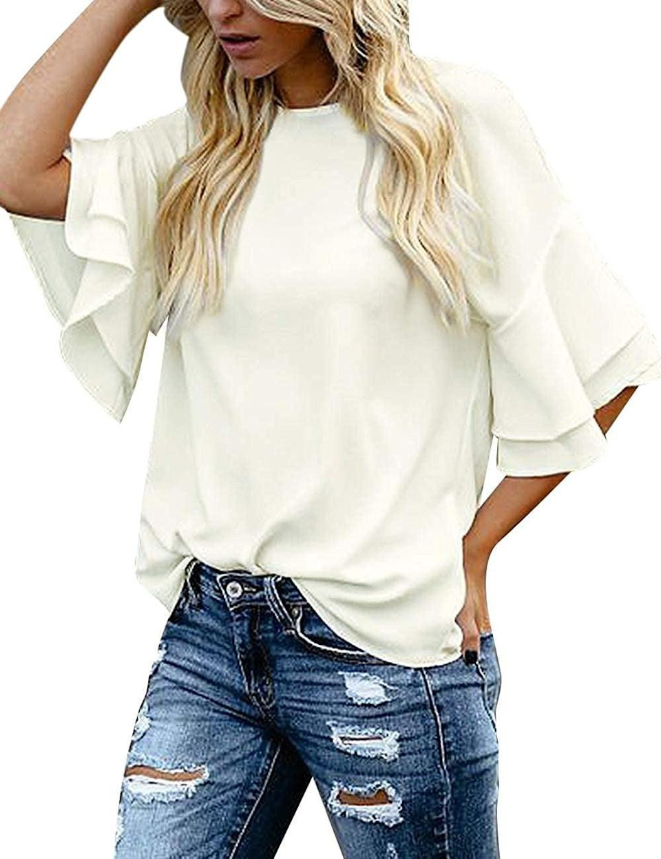 <p>This <span>Luvamia Blouse</span> ($20, originally $28) is polished and easy to move around in. From the voluminous sleeves to the relaxed silhouette, it looks quite comfortable.</p>